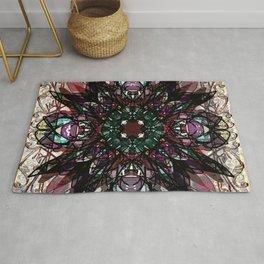 Ornate Gothic Mandala Magic Carpet Rug