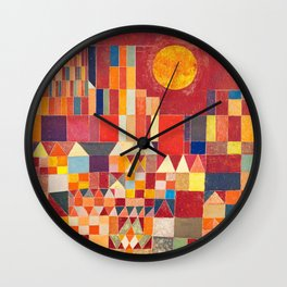 Burg und Sonne 1928 - Paul Klee Wall Clock