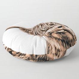 Funny Higland Cattle Floor Pillow