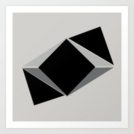 Shapes, black and grays Art Print