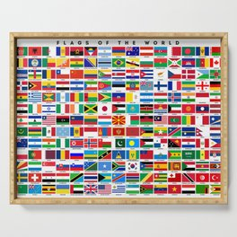 Flags Of The World Serving Tray