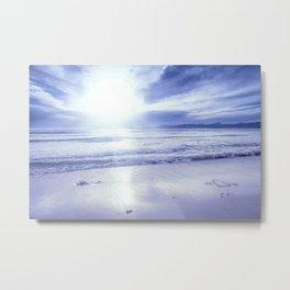 Serenity Beach Periwinkle Blue Metal Print