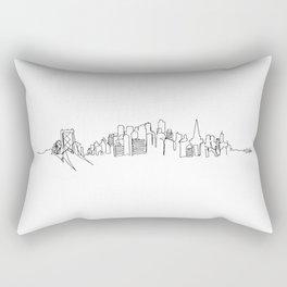 San Francisco Skyline Drawing Rectangular Pillow