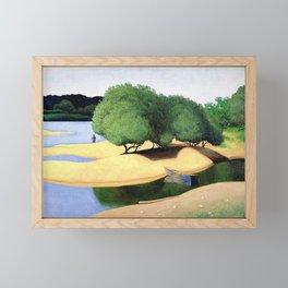 Sandbanks on the Loire river pastoral landscape painting by Felix Vallotton Framed Mini Art Print