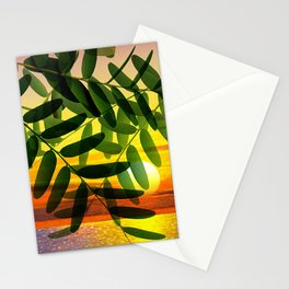 Acacia by the lake Stationery Cards