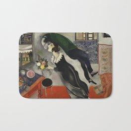 Marc Chagall, The Birthday 1915 Artwork, Posters Tshirts Prints Bags Men Women Kids Bath Mat