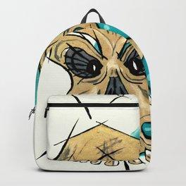 Retro Skull and Polka Dots Backpack