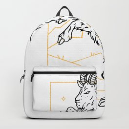 Goat in the mountains Backpack