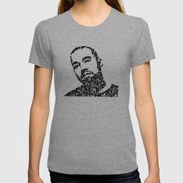 Kanji Calligraphy Art :man's face #7 T-shirt