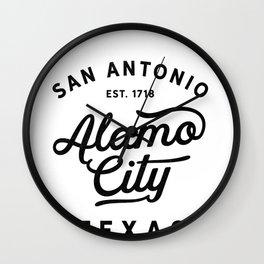 San Antonio Alamo City Texas Historic USA 1718 Pride  Wall Clock