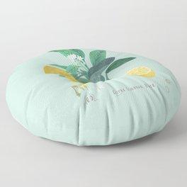Citrus Limonum Botanical  Floor Pillow