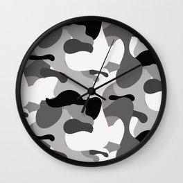 Camo-licious Collection: Dirty Martini Gray Camo Pattern Wall Clock