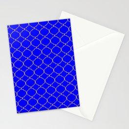 Modern Ethnic Style (Light Orange & Blue Pattern) Stationery Cards