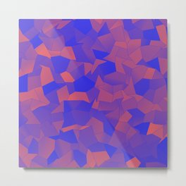 Geometric Shapes Fragments Pattern dbp Metal Print
