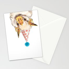 Baby Bat with Party Hat Stationery Cards