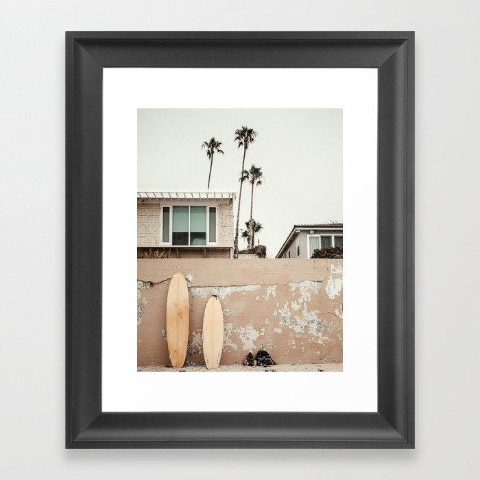 San Diego Surfing Gerahmter Kunstdruck
