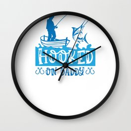 Fish Designs Hooked on Fishing Wall Clock