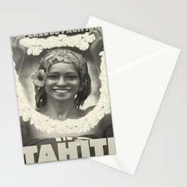 Tahiti oude poster Stationery Cards