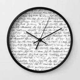 Literary Giants Pattern II Wall Clock