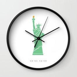 New York City, NYC, Lady Liberty Wall Clock