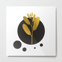 Flower of the Moon gold flowers Metal Print