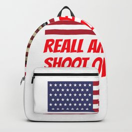 gun meme for gun owners and 2nd amendment supporters  Backpack