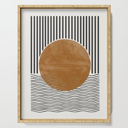 Abstract Modern Poster Serving Tray