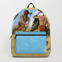Frederic Remington - The Smoke Signal - Digital Remastered Edition Backpack