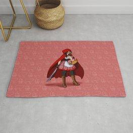 Serial Killer Red Riding Hood Rug