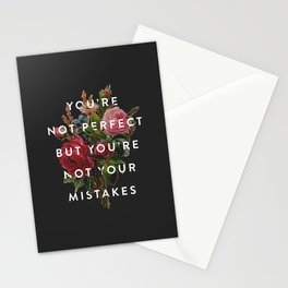 You're Not Your Mistakes Stationery Cards