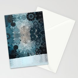 Fancy Snow: White Hare In A Snow Storm Stationery Cards