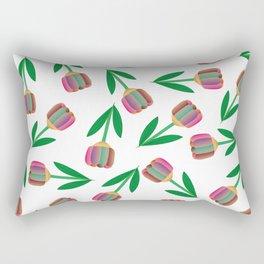 patron de tulipanes coloridos Rectangular Pillow