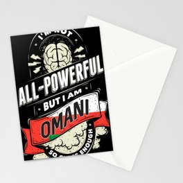 I'm Omani Proud Country All Powerful Stationery Cards
