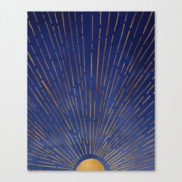 Twilight / Blue and Metallic Gold Palette Leinwanddruck