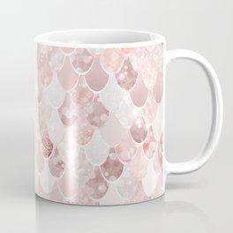 Mermaid Art, Blush Pink and Rose Gold Coffee Mug