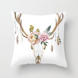 Animal Skull 09 Throw Pillow