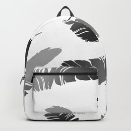 Feather Design black and white Backpack