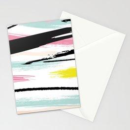 Retro Brush Strokes Stationery Cards