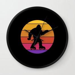 Retro Bigfoot Roller Skating Derby Disco Party Gift Wall Clock