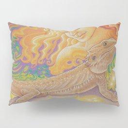 Sun And Dragon, Bearded Dragon Art Pillow Sham