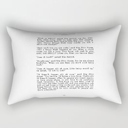 Becoming Real, Velveteen Rabbit Quote Rectangular Pillow