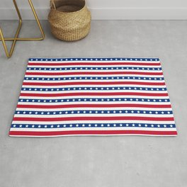 Patriotic Pattern | United States Of America USA Rug