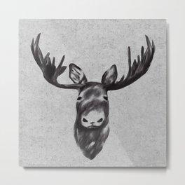 Beautiful Moose Head Design Metal Print