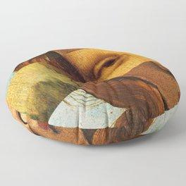 Leonardo's Mona Lisa & Botticelli's Venus Floor Pillow