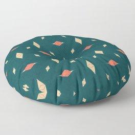 Playful Modern Geometry Background Floor Pillow