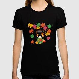 Japanese Fall Kokeshi Doll T-shirt