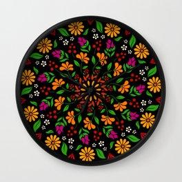 Hypnotic khokhloma garden Wall Clock