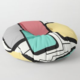 Mid-Century Modern Art Landscape 1.1 Floor Pillow