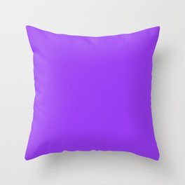 Bright Fluorescent Neon Purple Throw Pillow