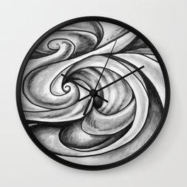 Swirl (Gray) Wall Clock